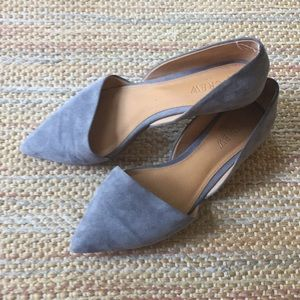 J.Crew Gray Pointed Toe Flats - Size 7